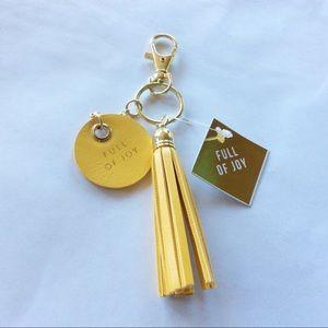 Full of Joy Yellow Tassel Keychain
